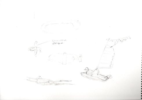 person-windsurf-rough-sketches