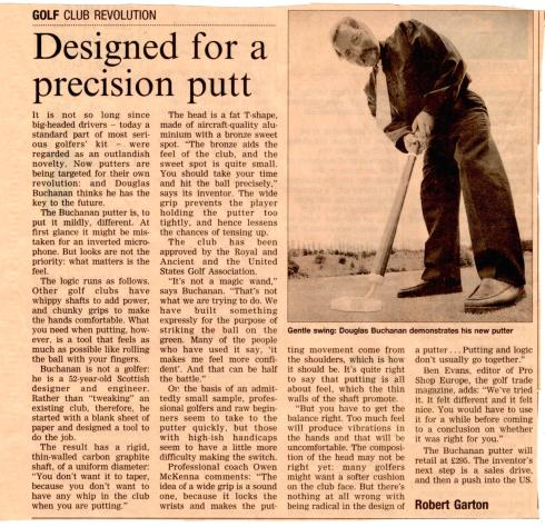 Designed for a precision putt